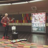 Busking in the Montreal Metro