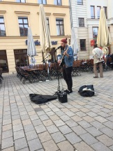 Playing at Hackecher Markt in Berlin