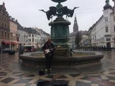 Performing at Strøget in Copenhagen,DK
