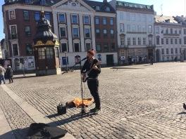 Playing at Strøget in Copenhagen, DK