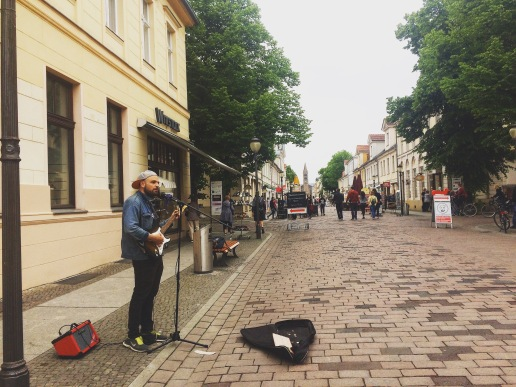 Playing in Postdam, Germany