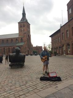 Busking in Odense, DK