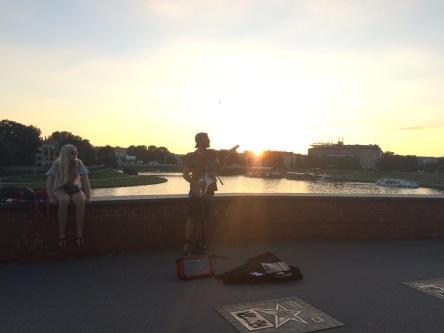 Busking in Krakow, Poland