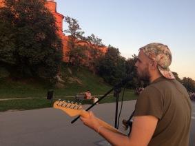 Performing in Krakow, Poland