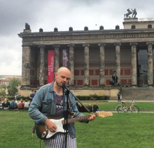 Perfoming in front of the Altes Museum, Berlin
