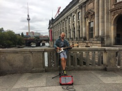 Busking by the BODE Museum, Berlin
